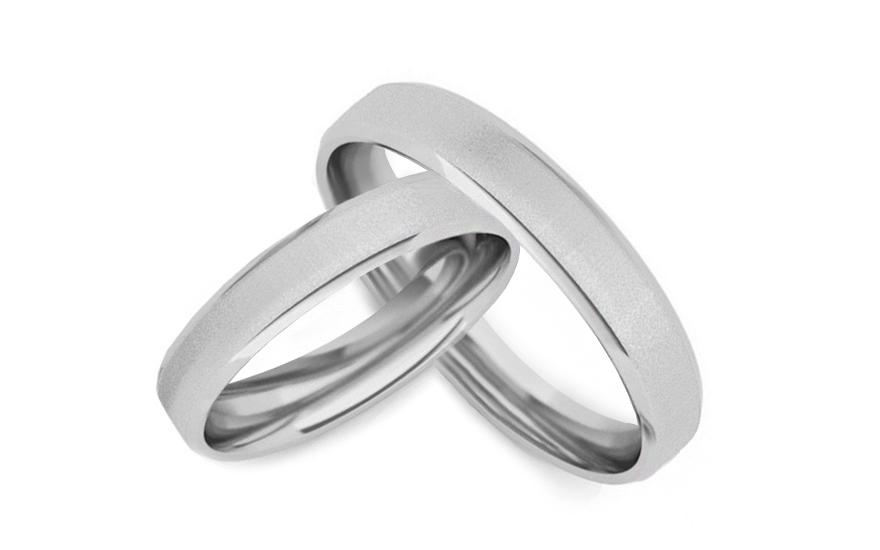 Snubní prstýnky bílé hranaté šířka 3 mm STOB10002-3A