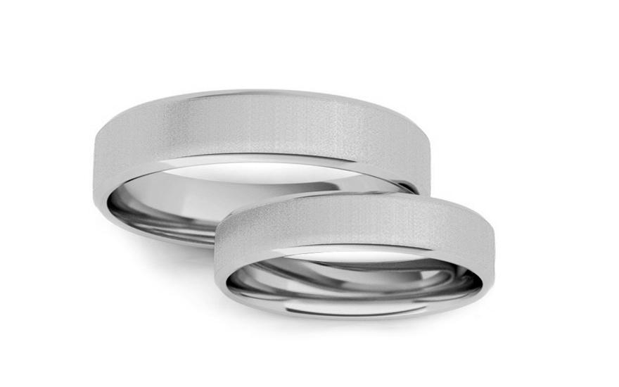 Snubní prstýnky bílé hranaté šířka 5 mm STOB10002A