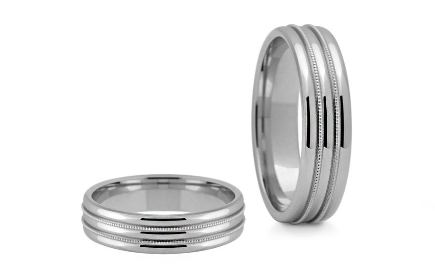 Snubní prstýnky bílé šířka 5 mm STOB191