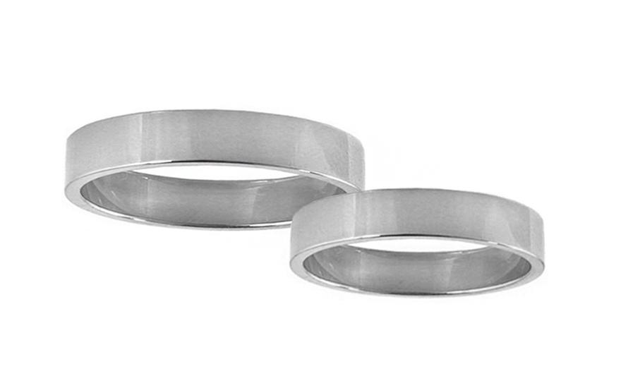 Snubní prstýnky bílé zlato šířka 3 mm STOB10001-3A
