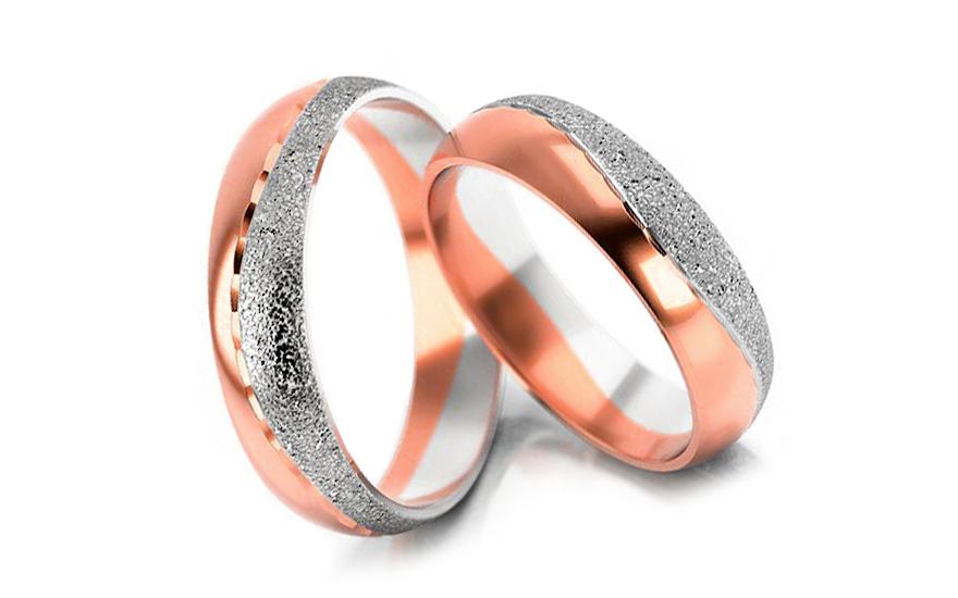 Snubní prstýnky kombinované s pískováním šířka 5 mm STOB011R