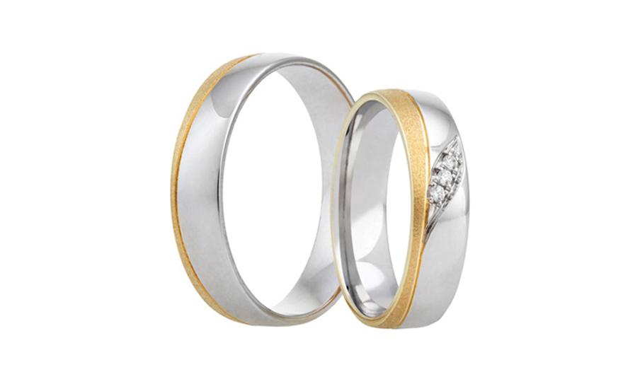 Snubní prstýnky kombinované se zirkony RYOB313