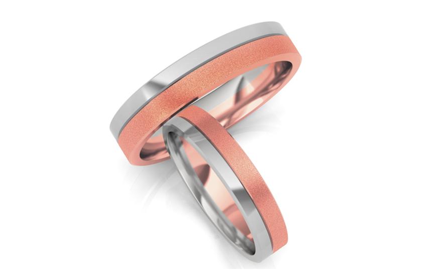 Snubní prstýnky matované šířka 5 mm STOB058R