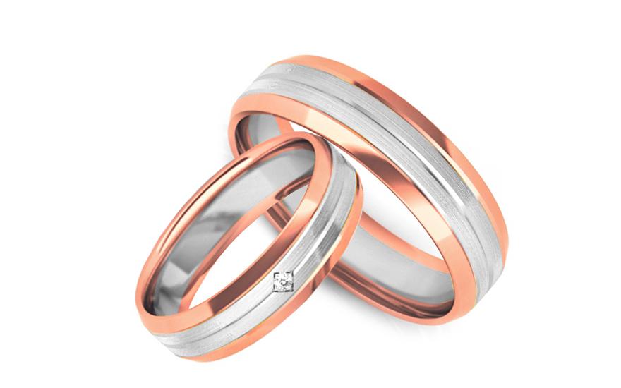 Snubní prstýnky s diamantem 0,015 ct šířka 5 mm STOBR240R