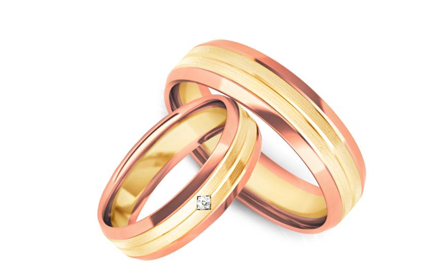 Snubní prstýnky s diamantem 0,015 ct šířka 5 mm STOBR240YR