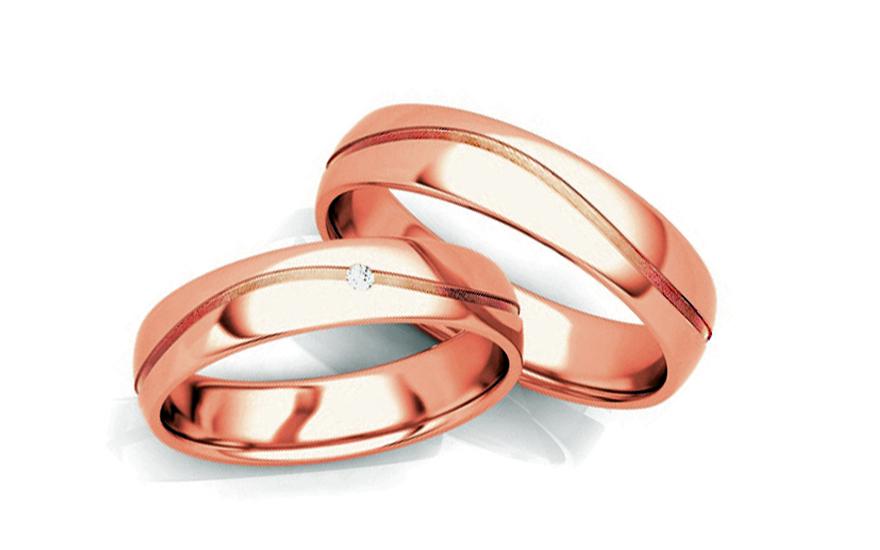 Snubní prstýnky s diamantem 0,015 ct šířka 6 mm STOBR286R