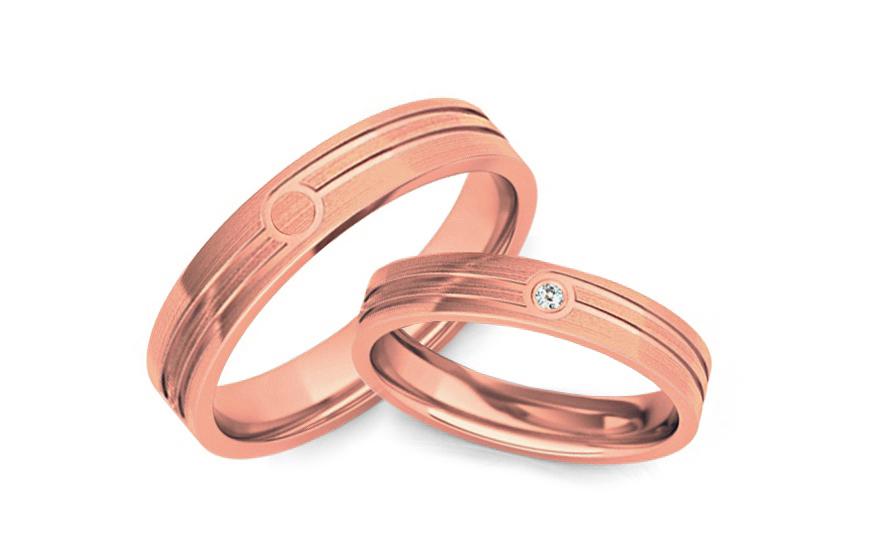 Snubní prstýnky s diamantem 0,020 ct šířka 4 mm STOBR209R