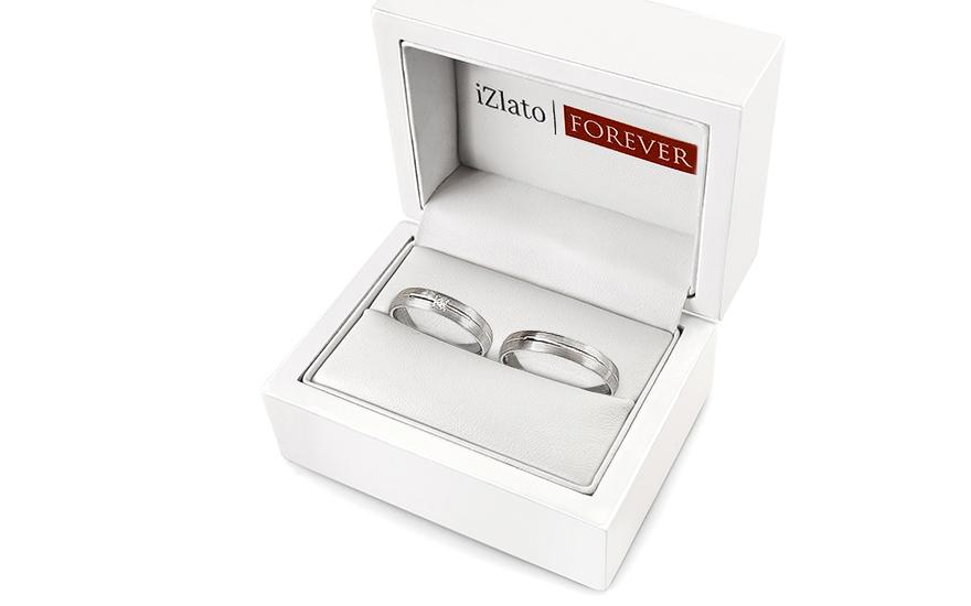 Snubní prstýnky s diamantem 0,020 ct šířka 4 mm STOBR236A