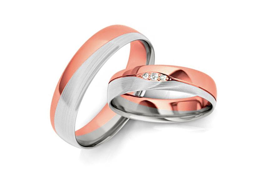 Snubní prstýnky s diamantem 0,035 ct šířka 4,5 mm STOBR275R