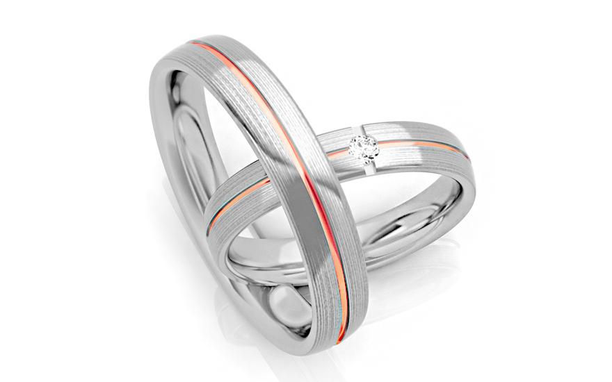 Snubní prstýnky s diamantem 0,040 ct šířka 4 mm STOBR267R