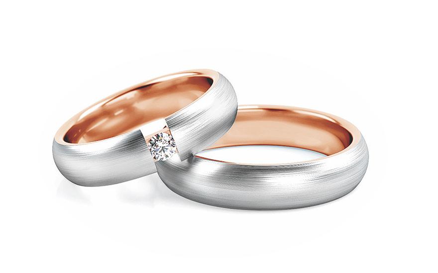 Snubní prstýnky s diamantem 0,050 ct 5 mm STOBR274