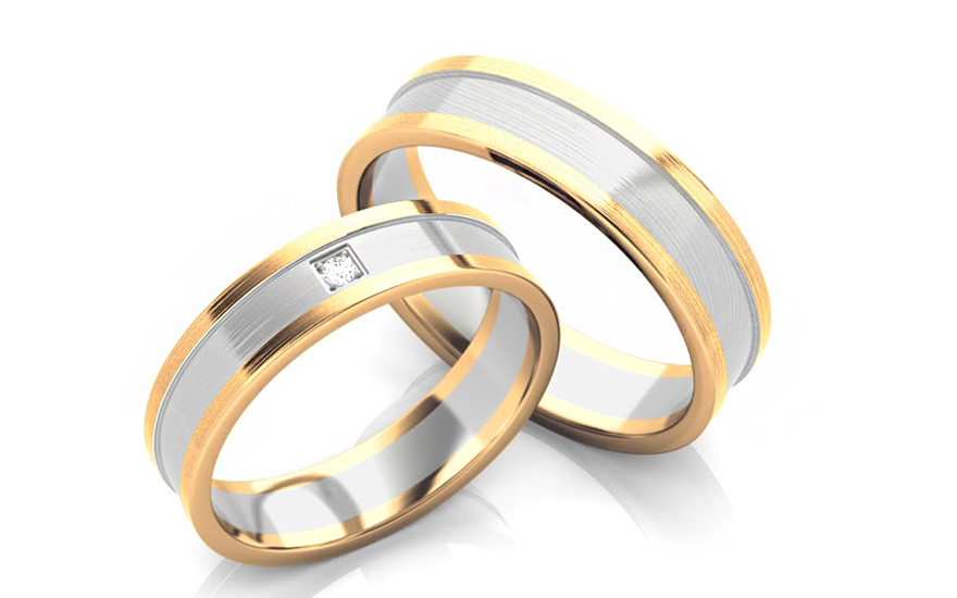 Snubní prstýnky s diamantem 0,020 ct šířka 5 mm STOBR226