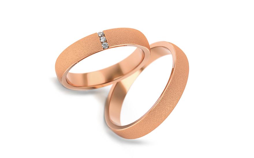 Snubní prstýnky s diamanty 0,030 ct šířka 4 mm STOBR261R