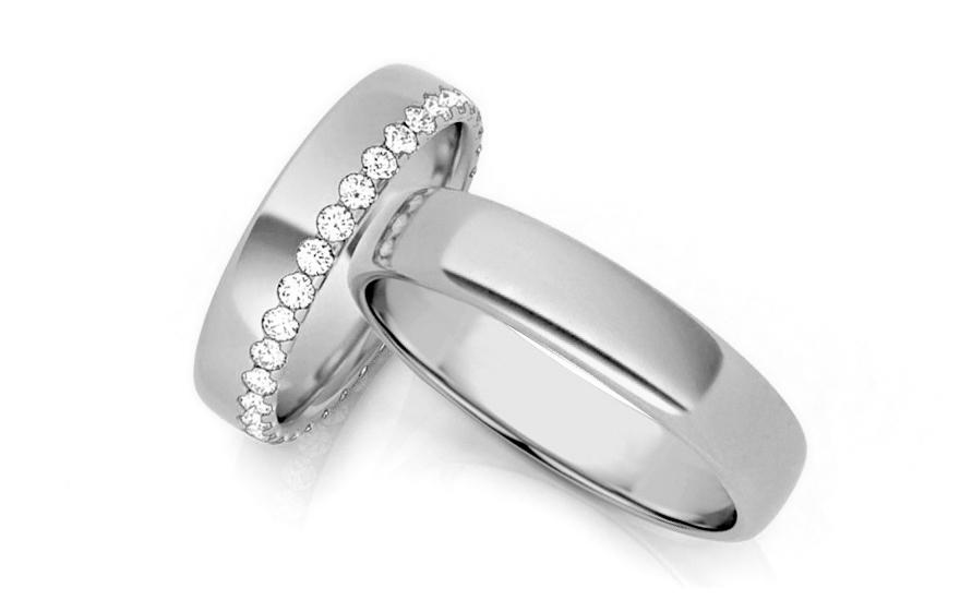 Snubní prstýnky s diamanty šířka 0,640 ct šírka 4,5 mm STOBR289