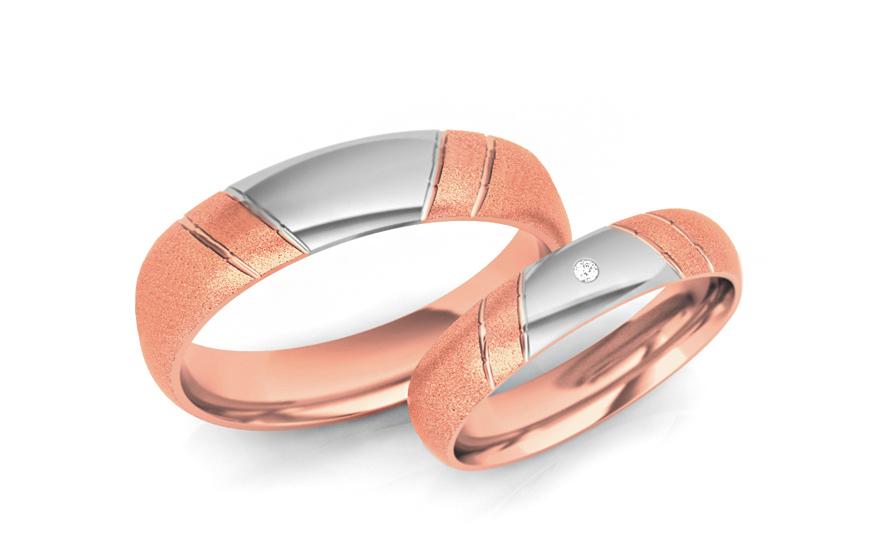 Snubní prstýnky s kamínkem šířka 5 mm STOB052R