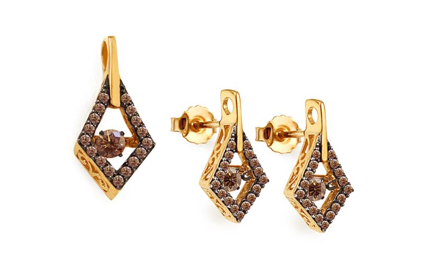 Souprava se champagne diamanty 0,800 ct Dancing Diamonds KU668S