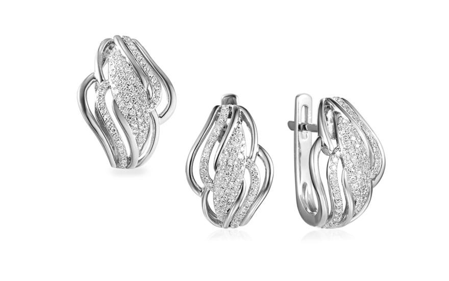 be6bd8166 Souprava z bílého zlata s diamanty 0,390 ct Mauren, pro ženy ...