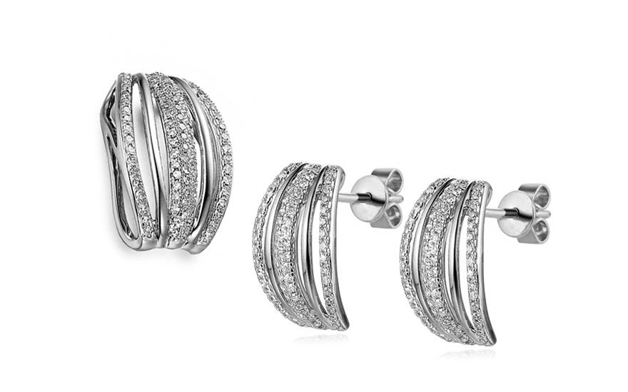 c0f5b001f Souprava z bílého zlata s diamanty 0,550 ct Merlien, pro ženy ...