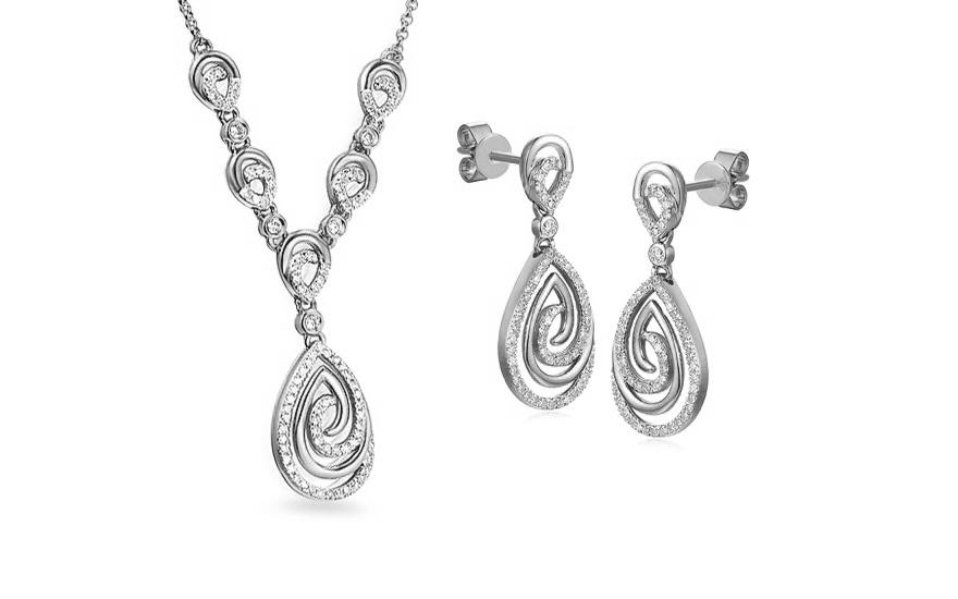 a5c95d676 Souprava z bílého zlata s diamanty 0,630 ct Marble, pro ženy ...