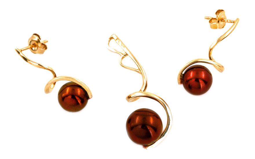 Zlatá perlová kolekce Sellin PE152