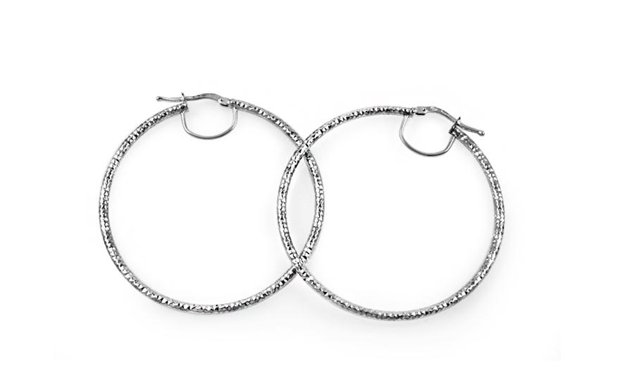 Stříbrné náušnice kruhy s gravírováním 4 6fb9ab4acdb
