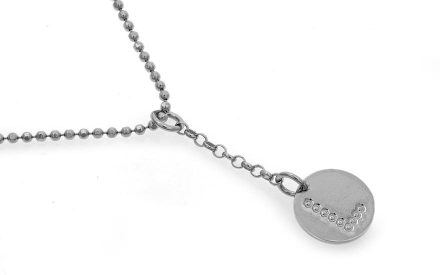 Stříbrný dámský řetízek s přívěskem písmeno L 44a649e3f63
