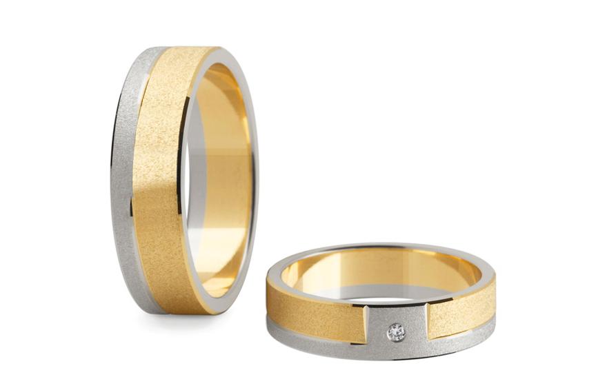 Snubní prsteny s diamantem 0,020 ct šířka 5 mm STOBR006-5