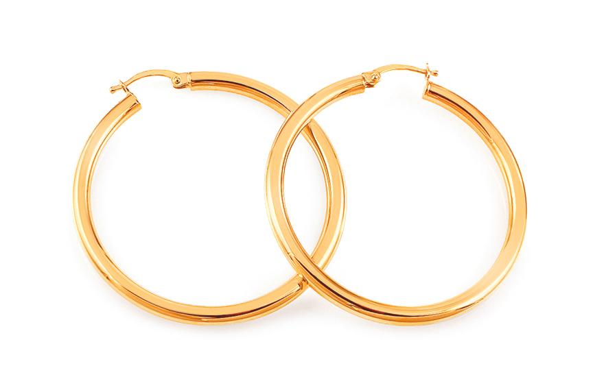 507f8850e Výrazné zlaté náušnice kruhy 6,1 cm, pro ženy (IZ18280) | iZlato24.cz