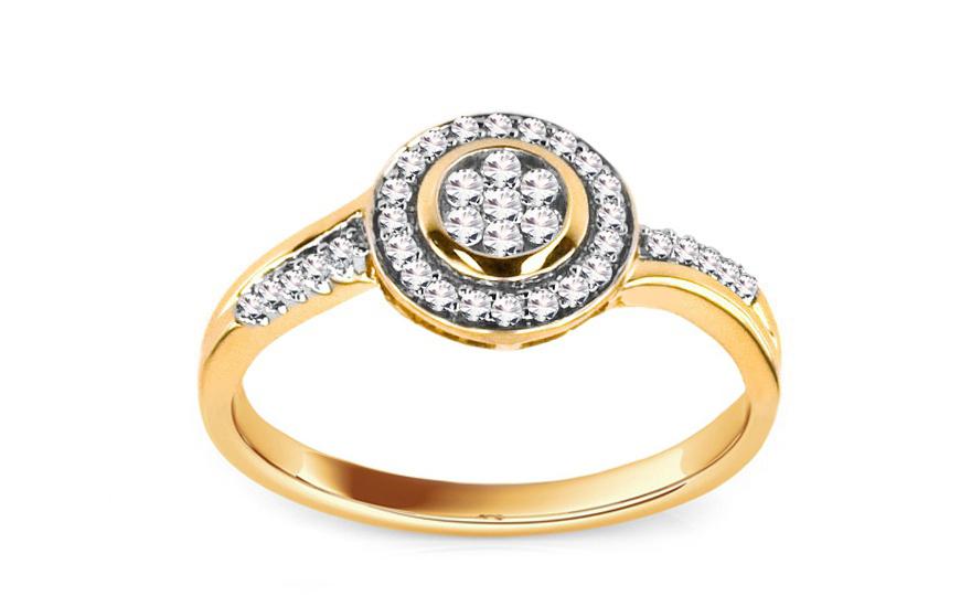 Zásnubní prsten Adriente 0,230 ct KU134