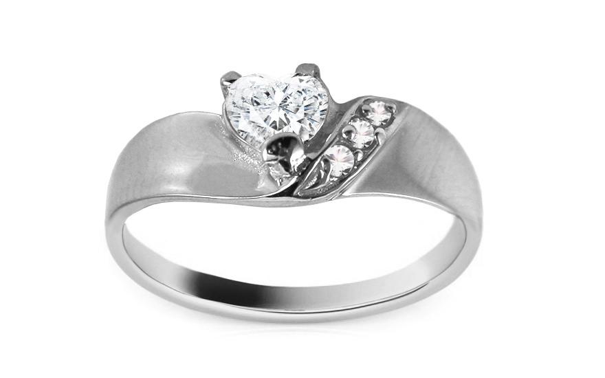 Zlatý zásnubní prsten Anabel 3 white CSRI247A
