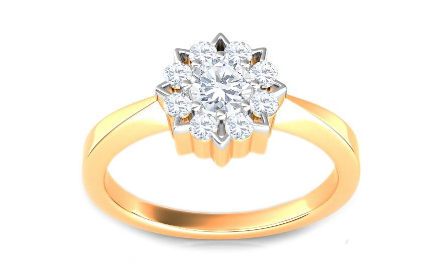 Zásnubní prsten s 0,385 ct brilianty ardiente 5 KU133