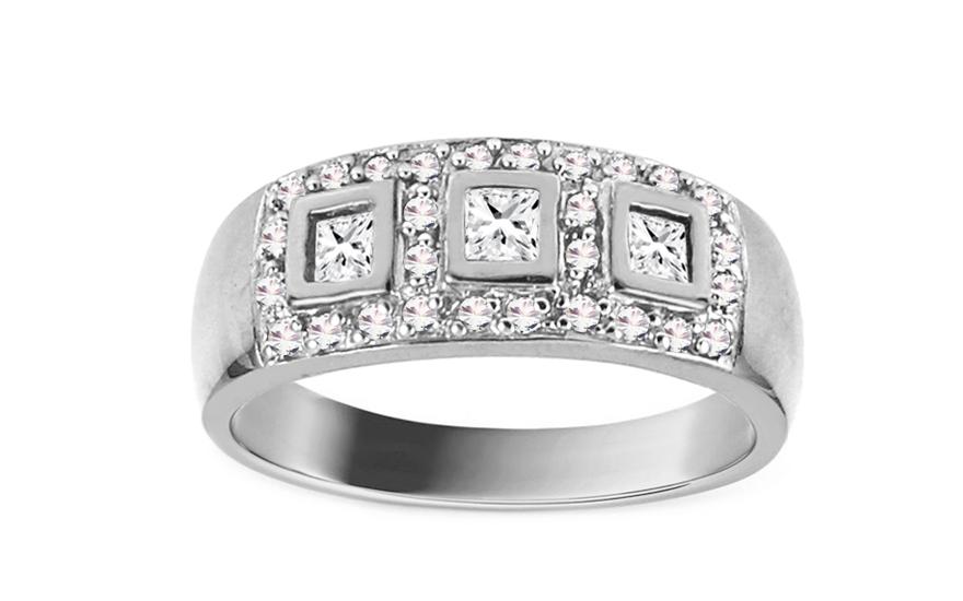 Zásnubní prsten BARBARA 2 white CSRI750A