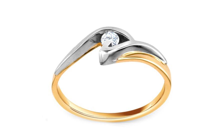 Zásnubní prsten Beauty s briliantem 0,090 ct CSBR06