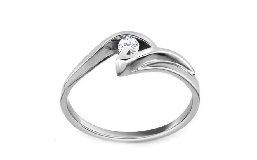 Zásnubní prsten s 0,090 ct briliantem Beauty white CSBR06A