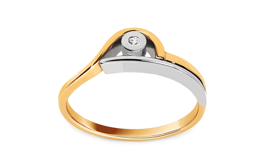 Zásnubní prsten s 0,015 ct briliantem Engagement of love CSBR04