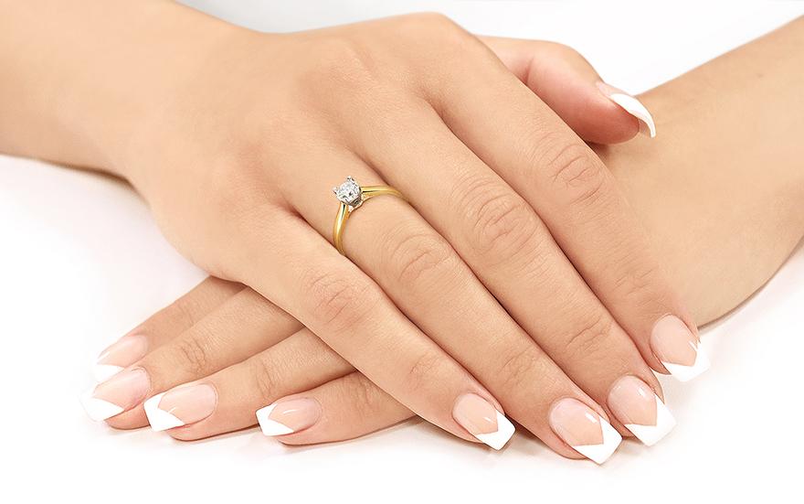Zásnubní prsten Estelle 0,550 ct CSBR52
