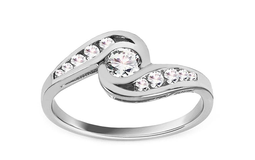 Zlatý zásnubní prsten Eye CSRI736A