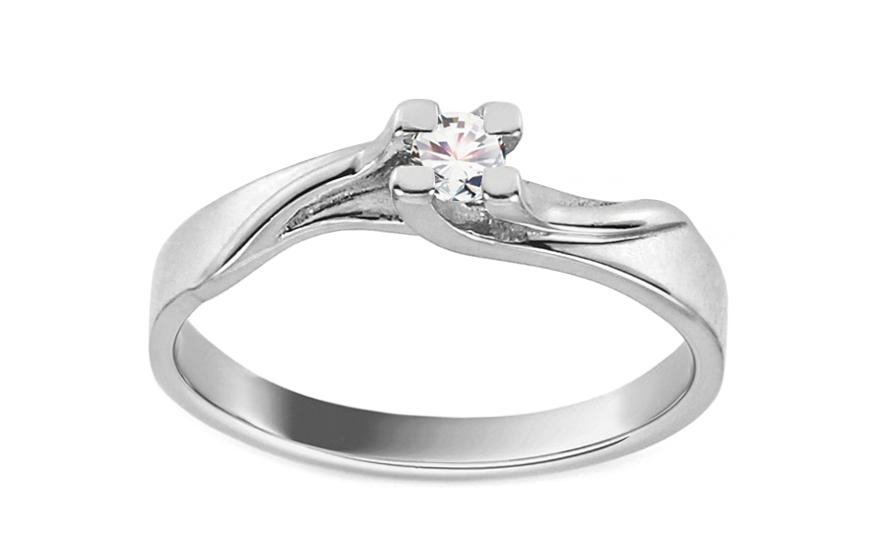 Zásnubní prsten Grace 8 bílé zlato CS9RI1967A
