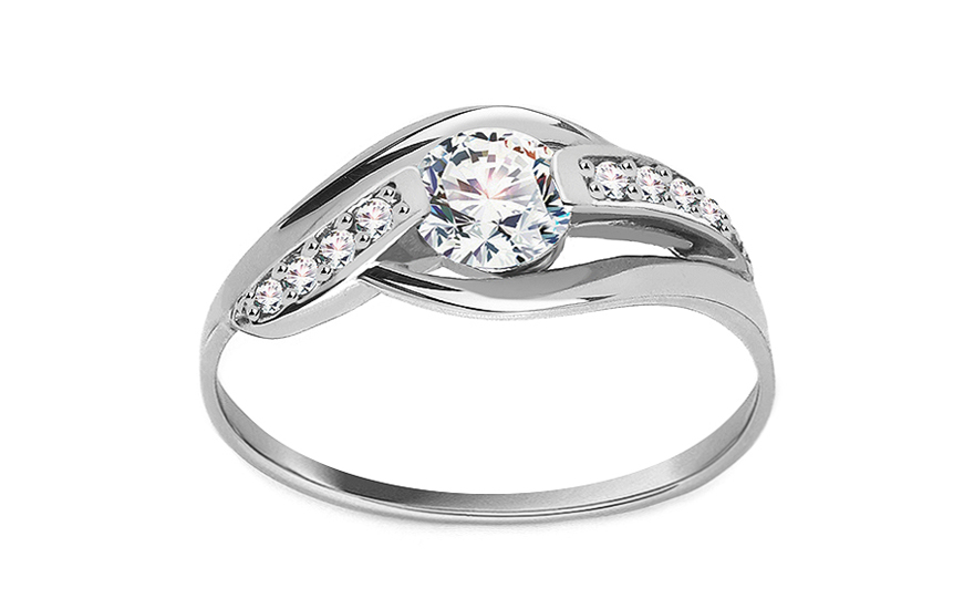 Krásný zásnubní prsten Gracefull CSRI985A