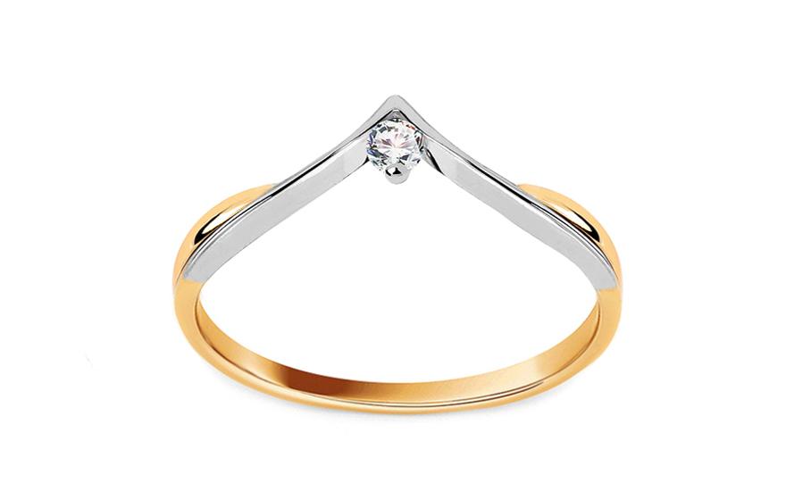 Zásnubní prsten s briliantem 0,040 ct IN LOVE CSBR12
