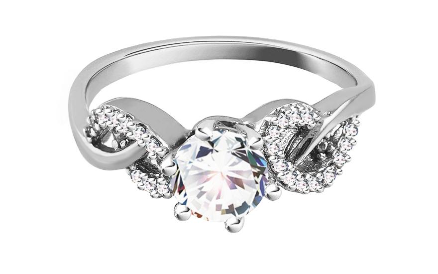 Zlatý zásnubní prsten Isar 25 CSRI809A