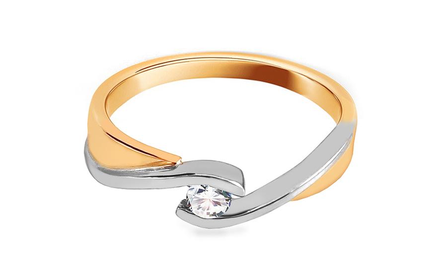 Zásnubní prsten s 0,060 ct briliantem Love CSBR18
