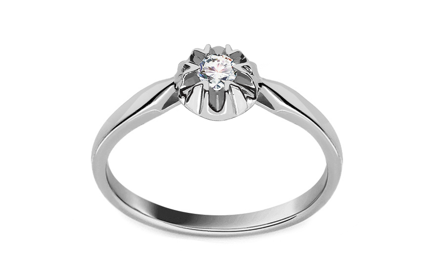 Zásnubní prsten s 0.080 ct briliantem Lyann 1 white KU0099A
