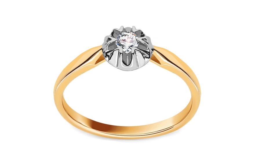 Zásnubní prsten s 0.080 ct briliantem LYANNA 1 KU0099