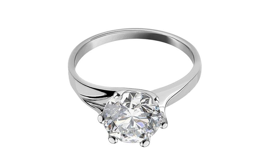Zásnubní prsten Nice se Swarovski křišťálem CSRI597A