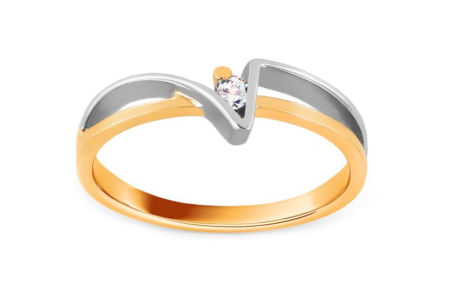 Zásnubní prsten Of love s briliantem 0,030 ct CSBR01