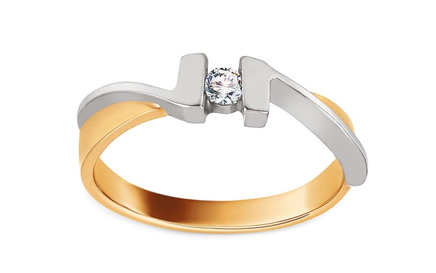 Zásnubní prsten s 0,080 ct diamantem Our Love CSBR02