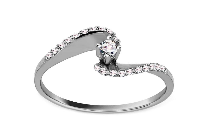 Zlatý zásnubní prsten Pretty 12 CSRI2060A