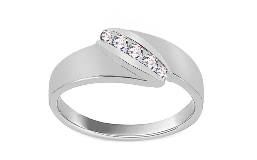Krásný zásnubní prsten Pretty 3 CSRI2082A