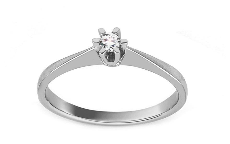 Zásnubní prsten Pretty 4 se zirkony white CSRI1993A